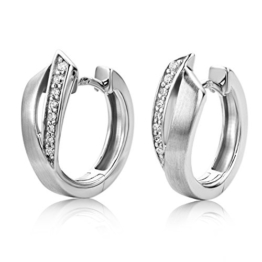 Miore Damen-Creolen 925 Sterling Silber Zirkonia -