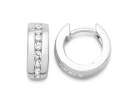 Miore Damen Creolen 925 Sterling Silber Zirkonia -
