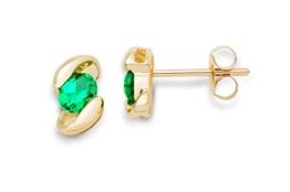 Miore Damen-Ohrstecker 375 Gelbgold Smaragd -