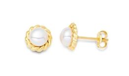 Miore Damen-Ohrstecker 9 Karat (375) Gelbgold Perlen -