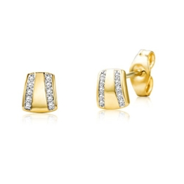 Miore Damen-Ohrstecker Brillanten 9 Karat 375 Gelbgold MY001E -