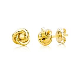 Miore Damen-Ohrstecker Knoten 375 Gelbgold 6mm -