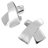 Vinani Damen-Ohrstecker Eternal Cross Sterling Silber 925 Ohrringe OEC -