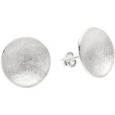 Vinani Damen-Ohrstecker Scheibe gebürstet Sterling Silber 925 Ohrringe OSDA -