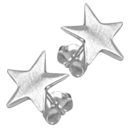 Vinani Damen-Ohrstecker Stern Easy Star Sterling Silber 925 Ohrringe OES -