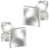 Vinani Damen-Ohrstecker Viereck mattiert Sterling Silber 925 Ohrringe Quadrat OVM -